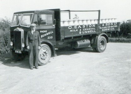 Easton driver & churn lorry, date unknown