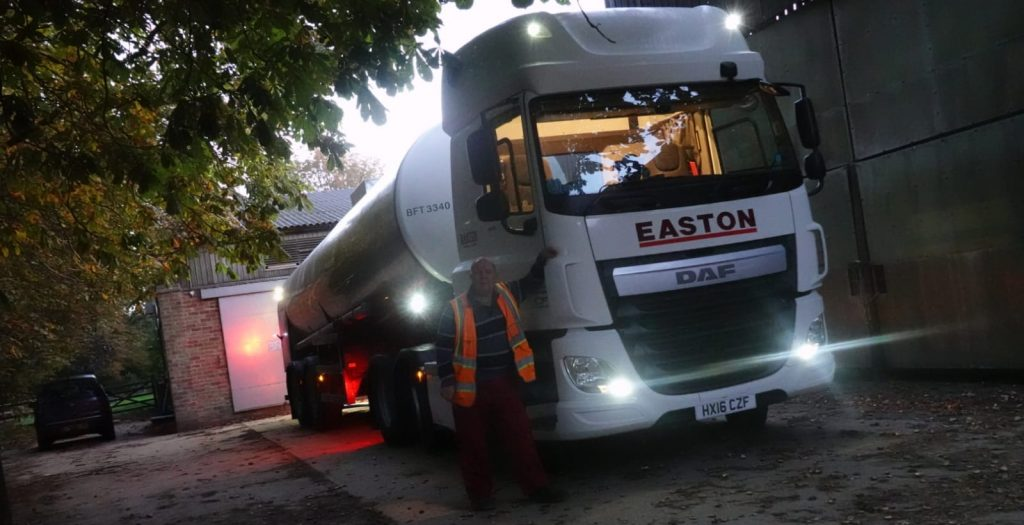 Easton driver standing next to HX16 CZF